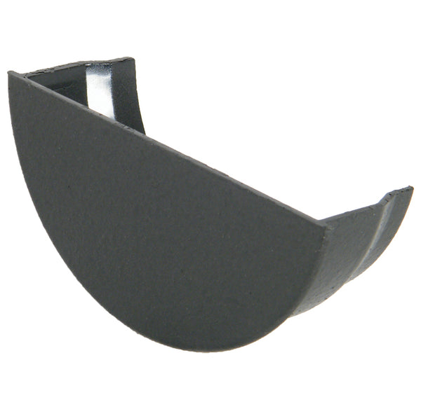 "RE2CI - Floplast ""Cast Iron"" Style 112mm Half Round Gutter Internal Stopend"