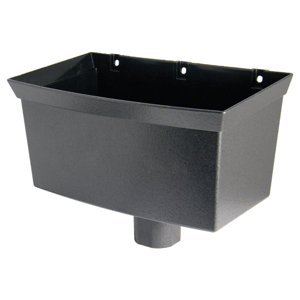 "RH1CI - Floplast ""Cast Iron"" Style Universal Hopper - Connects to 68mm Round & 65mm Square Pipe"