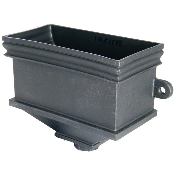 "RH5CI - Floplast ""Cast Iron"" Style Rectangular Hopper - Connects to 68mm Round & 65mm Square Pipe"