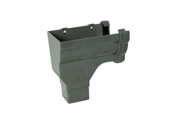 RON2 - Floplast 110mm  Niagara Ogee  Stopend Outlet Left Handed - Connects to 65mm Square Downpipe