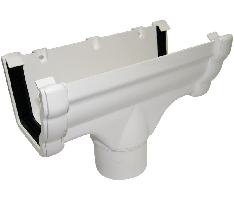 RON1 - Floplast 110mm Niagara Running Outlet - Connects to 65mm Square and 68mm Round Downpipe