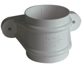 RS2 - Floplast 68mm Round Downpipe Pipe Socket With Fixing Lugs
