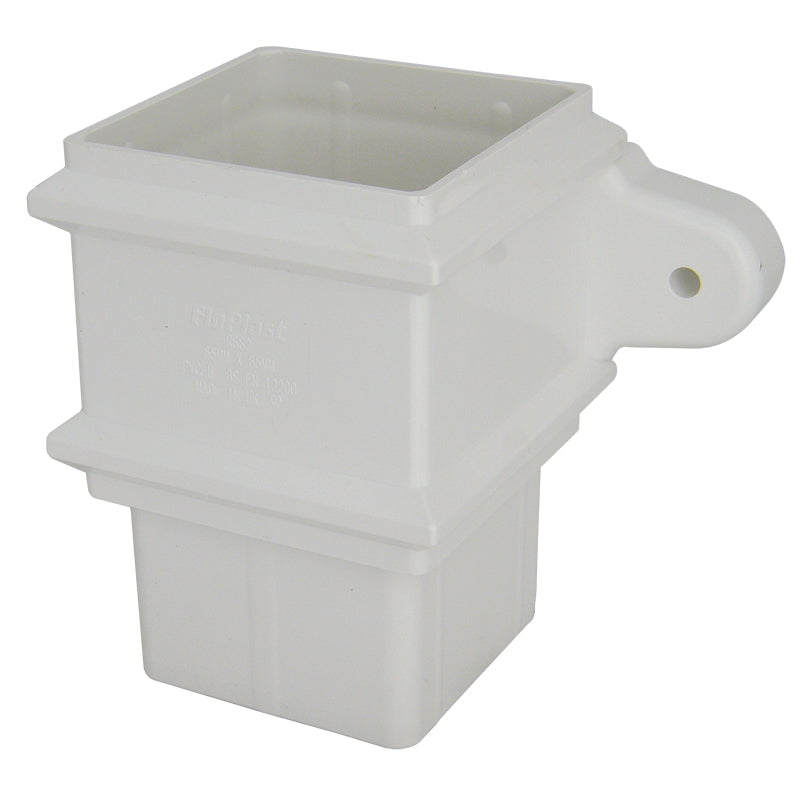 RSS2- Floplast 65mm Square Pipe Connector- With Lugs
