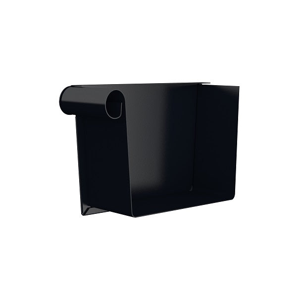 Lindab Steel Rectangular Gutter Stop End - Left Hand