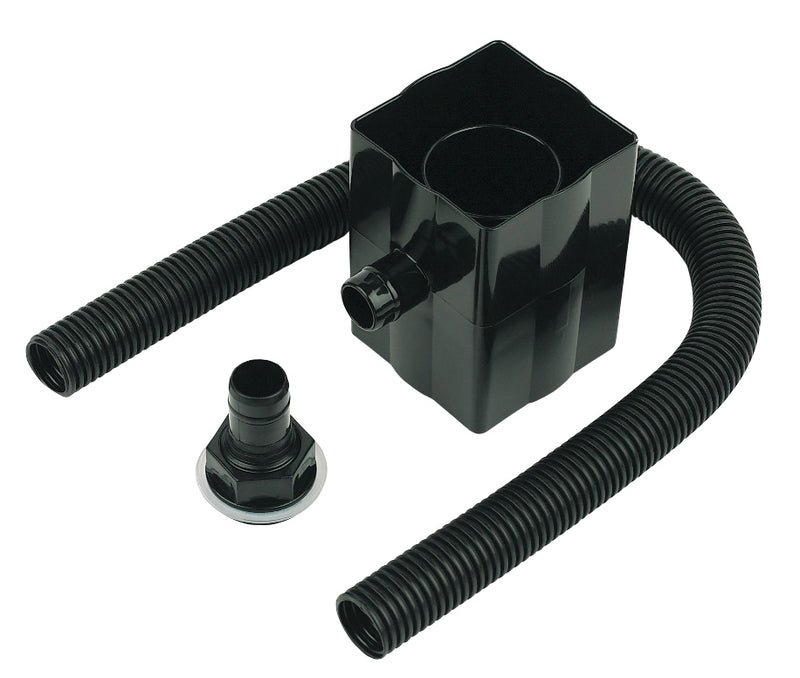 RVS1 Floplast Black  FloSaver Rainwater Diverter