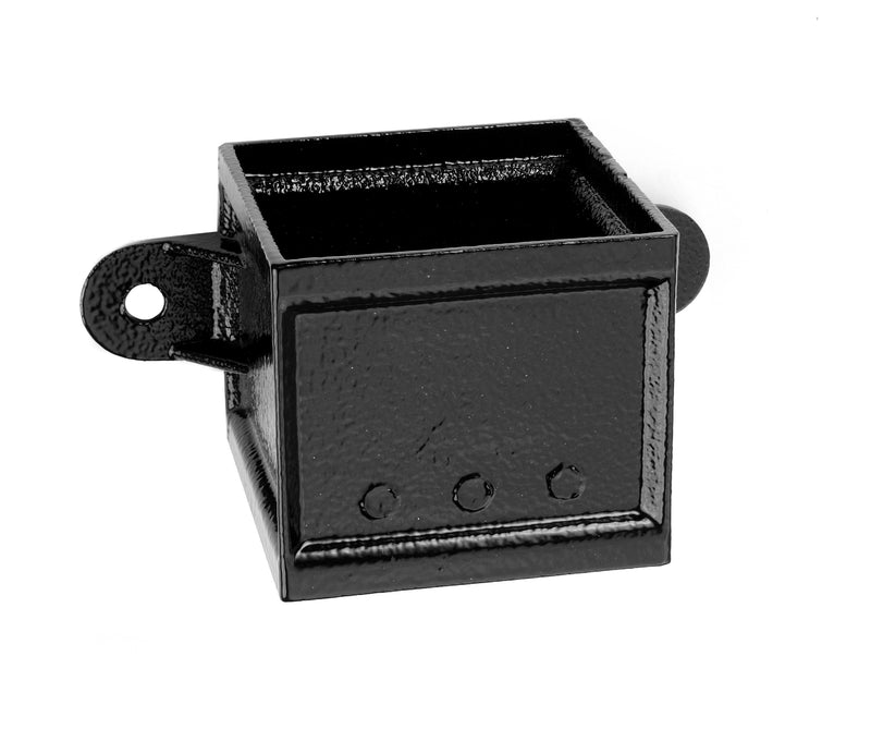 Alumasc Heritage Cast Aluminium Square/Rectangular Pipe Socket Eared