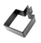 Alumasc Heritage Cast Aluminium Square/Rectangular Pipe Clip with Small Base