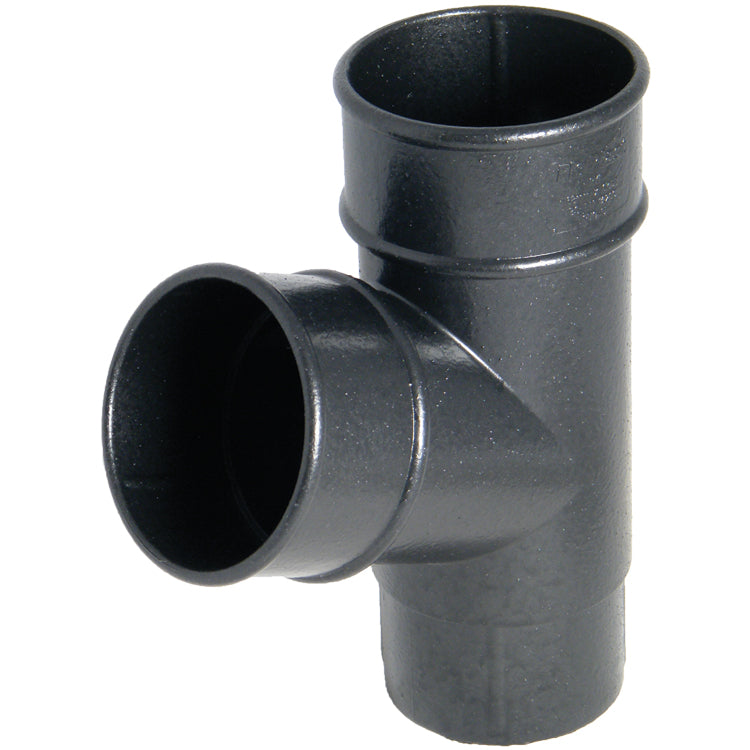 "RY1CI - Floplast ""Cast Iron"" Style 68mm Round Downpipe 67.5 Degree Branch"