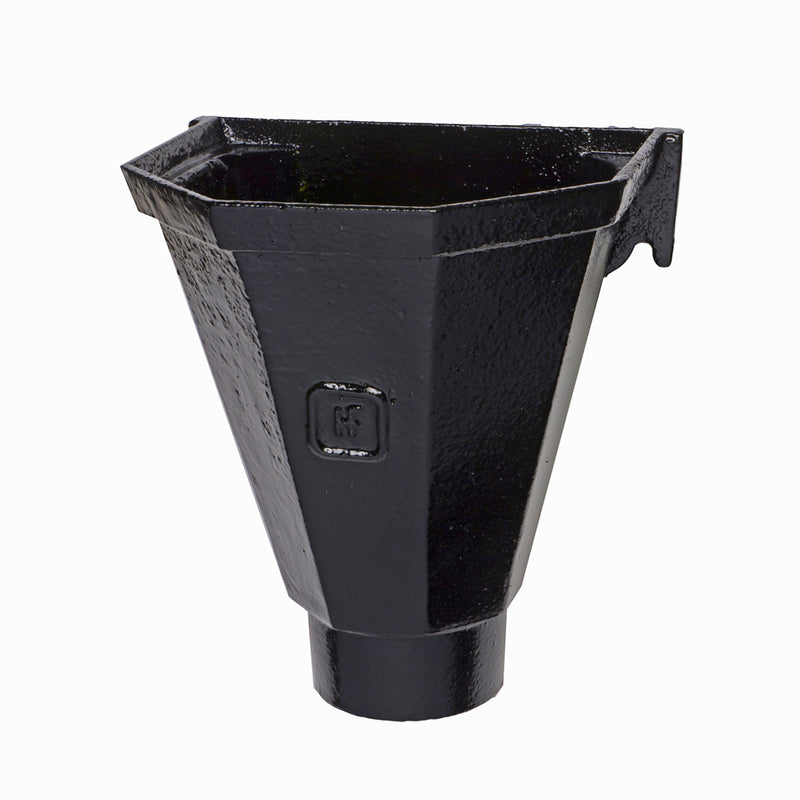 Cast Iron Rainwater Head - Flat Back  253mm x 210mm x 210mm