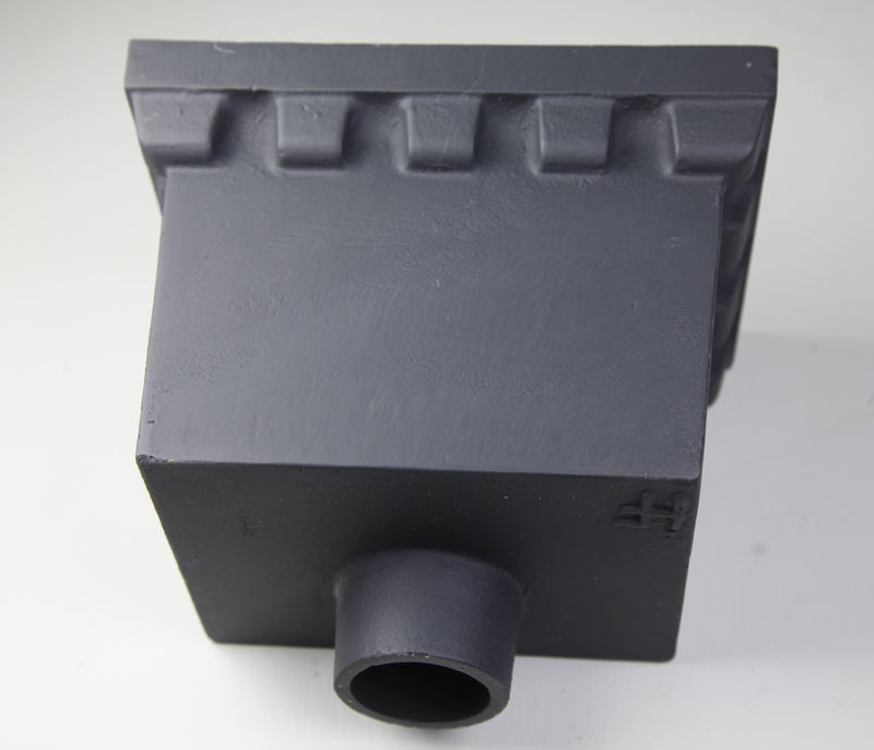 Cast Iron Rainwater Head - Rectangular Castellated  255mm x 178mm x 178mm
