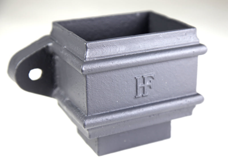 Cast Iron Rectangular Eared Loose Socket - With Spigot