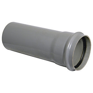 SP4 - Floplast 110mm Ring Seal Pipe 4m - Single Socketed