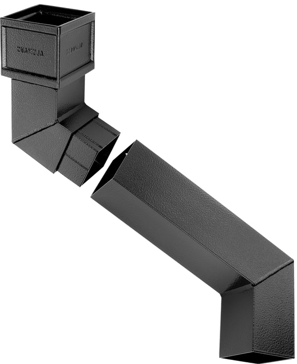 Alumasc Heritage Cast Aluminium Square/Rectangular Two Part Offset 112.5 Degree - Upto 533mm