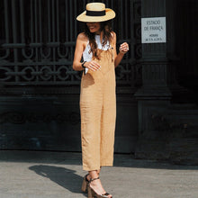 Load image into Gallery viewer, Sexy Slim Thin Khaki Wide Leg Jumpsuit