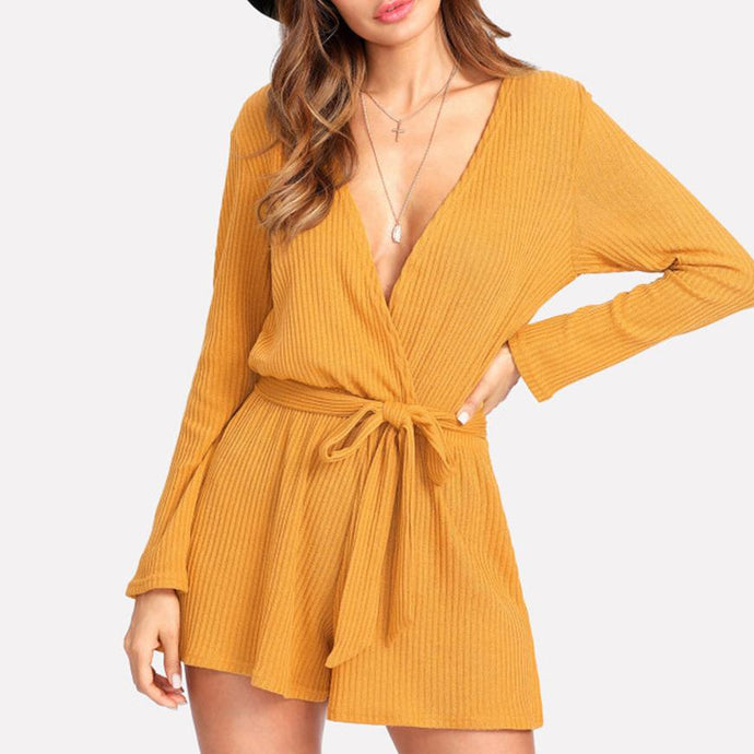 c2d4fa008a2 Sexy Deep V Long Sleeves Rompers