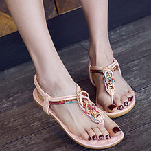 Load image into Gallery viewer, Flat With Bohemian Buckle Beach Women's Shoes Flat Sandals