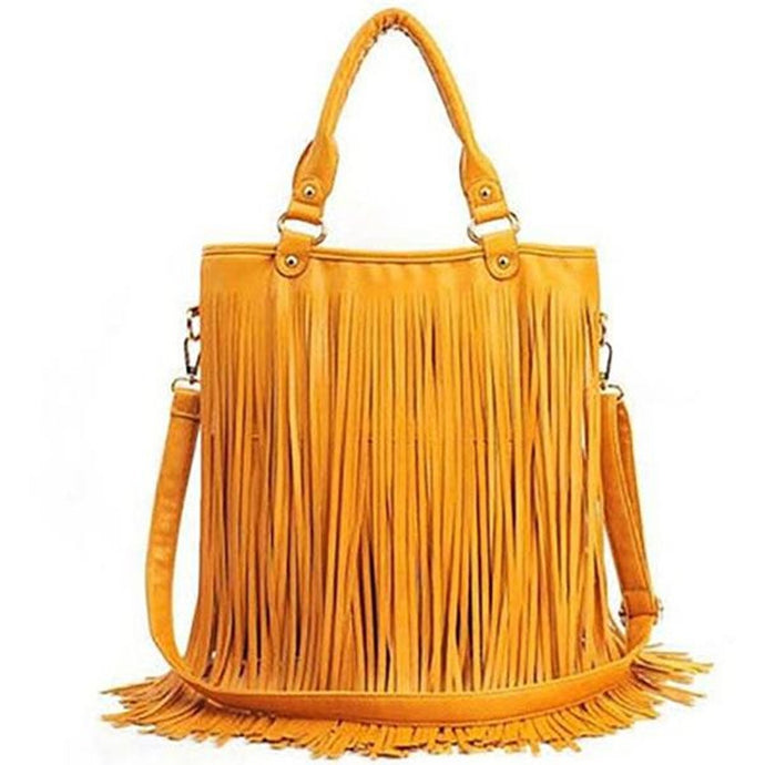 PU Tassel Shoulder Bag Handbag