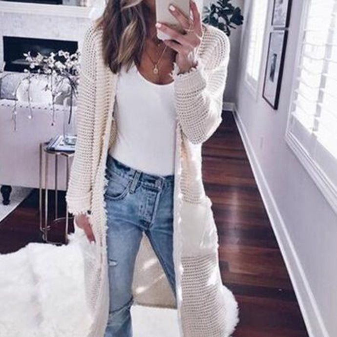 Fashion Sexy Plain Cardigans