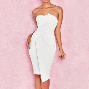 Off Shoulder  Plain Bodycon Dress