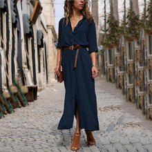 Load image into Gallery viewer, Fashionable Loose Long Sleeved Maxi Dress Vintage Dress