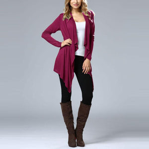 Pure Color Long Sleeve Bat Cardigan