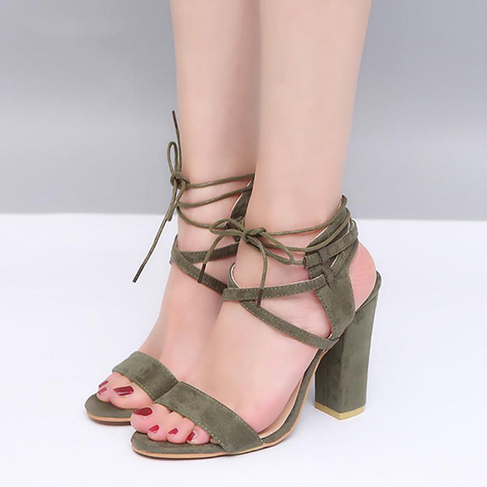 Elegant Strap Sandals Peep Toe Shoes
