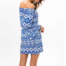 Load image into Gallery viewer, Elegant Off Shoulder Printed Vacation Dress