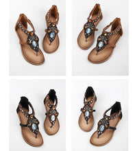 Load image into Gallery viewer, Bohemia Style Sandal Flat Beach Shoes