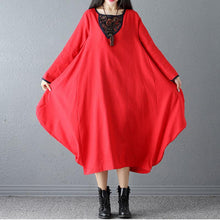Load image into Gallery viewer, Retro Linen Long Sleeve  Casual Dress Vintage Dress