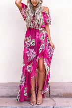 Load image into Gallery viewer, Rose Off Shoulder Floral Print Maxi Dress