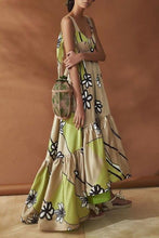 Load image into Gallery viewer, Stylish Apricot Floral Print Maxi Dress