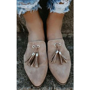 Fashion Suede Pure Color Pointed Hollow Wedge Sandals