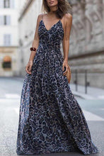 Load image into Gallery viewer, Sexy Leopard Print Sleeveless Maxi Dress
