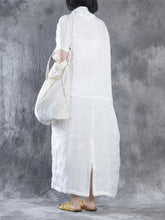 Load image into Gallery viewer, Women Summer Loose Fit Retro Linen Maxi Dress Vintage Dress