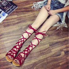 Load image into Gallery viewer, Fashion Roman Bandages  Beach Flat Sandals