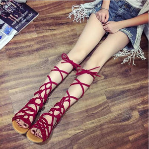 Fashion Roman Bandages  Beach Flat Sandals