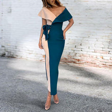Load image into Gallery viewer, Sexy V-Neck Stitched Fashion Bodycon Dress