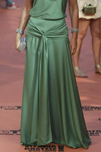 Load image into Gallery viewer, Sexy Green Sleeveless Plain Maxi Dress