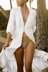 V Neck Sunscreen Bikini Vacation Dress Cover Ups