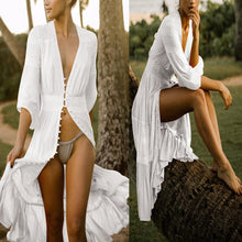 Load image into Gallery viewer, V Neck Sunscreen Bikini Vacation Dress Cover Ups