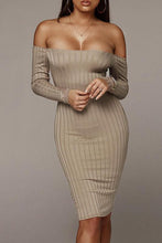 Load image into Gallery viewer, Sexy Fashion Long Sleeve Bodycon Dress