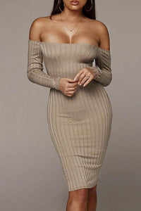 Sexy Fashion Long Sleeve Bodycon Dress