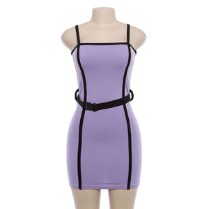 Sexy Sling Package Hip Bodycon Mini Dresses