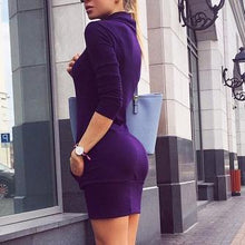 Load image into Gallery viewer, Fashion Plain Long Sleeve Bodycon Dress