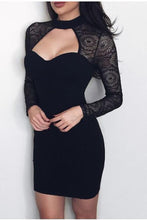 Load image into Gallery viewer, Fashion Lace Long Sleeves Bodycon Dress