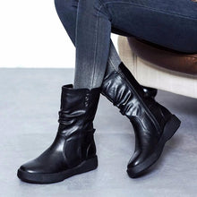 Load image into Gallery viewer, Fashion Stylish Low Heel Medium Height Martin Boots