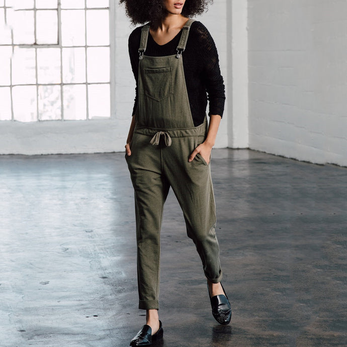 Plain Casual Solid Color Pockets Overall Jumpsuit