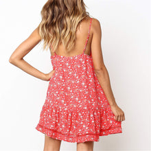 Load image into Gallery viewer, Sweet Floral Printed Deep V Collar Vacation Dress