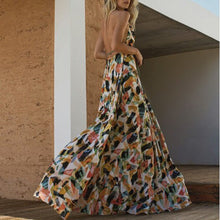 Load image into Gallery viewer, Fashion Floral Print Sleeveless Vacation Maxi Dress