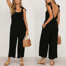 Load image into Gallery viewer, Fashion Halter Sleeveless Wide Leg Jumpsuit